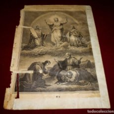 Arte: GRABADO RELIGIOSO - VERDADES ETERNAS - SIGLO XIX.Nº 4. Lote 196276817