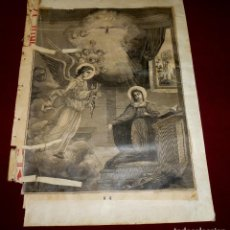 Arte: GRABADO RELIGIOSO - VERDADES ETERNAS - SIGLO XIX.Nº 4-1. Lote 196276910