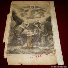 Arte: GRABADO RELIGIOSO - VERDADES ETERNAS - SIGLO XIX.Nº 4-2. Lote 196277117