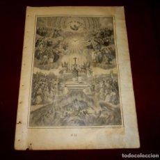 Arte: GRABADO RELIGIOSO - VERDADES ETERNAS - SIGLO XIX.Nº 13. Lote 196279055