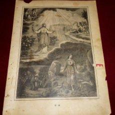 Arte: GRABADO RELIGIOSO - VERDADES ETERNAS - SIGLO XIX.Nº 18. Lote 196279332