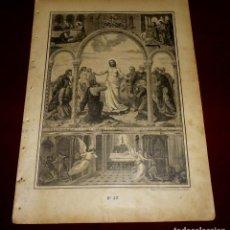 Arte: GRABADO RELIGIOSO - VERDADES ETERNAS - SIGLO XIX.Nº 22. Lote 196279593