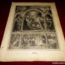 Arte: GRABADO RELIGIOSO - VERDADES ETERNAS - SIGLO XIX.Nº 25. Lote 196279852