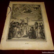 Arte: GRABADO RELIGIOSO - VERDADES ETERNAS - SIGLO XIX.Nº 27. Lote 196279936