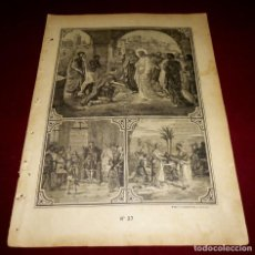 Arte: GRABADO RELIGIOSO - VERDADES ETERNAS - SIGLO XIX.Nº 37. Lote 196280381