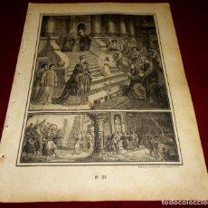 Arte: GRABADO RELIGIOSO - VERDADES ETERNAS - SIGLO XIX.Nº 31. Lote 196280577
