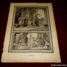 Arte: GRABADO RELIGIOSO - VERDADES ETERNAS - SIGLO XIX.Nº 43. Lote 196281040