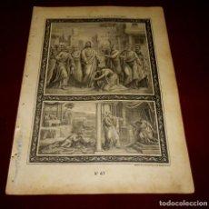Arte: GRABADO RELIGIOSO - VERDADES ETERNAS - SIGLO XIX.Nº 47. Lote 196281348