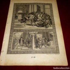 Arte: GRABADO RELIGIOSO - VERDADES ETERNAS - SIGLO XIX.Nº 48. Lote 196281412