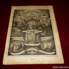 Arte: GRABADO RELIGIOSO - VERDADES ETERNAS - SIGLO XIX.Nº 53. Lote 196282001