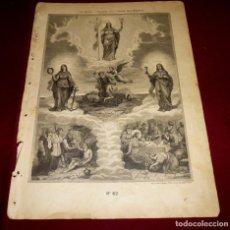 Arte: GRABADO RELIGIOSO - VERDADES ETERNAS - SIGLO XIX.Nº 62. Lote 196282343