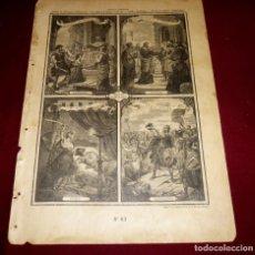 Arte: GRABADO RELIGIOSO - VERDADES ETERNAS - SIGLO XIX.Nº 63. Lote 196282355