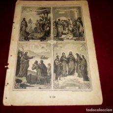 Arte: GRABADO RELIGIOSO - VERDADES ETERNAS - SIGLO XIX.Nº 64. Lote 196282428