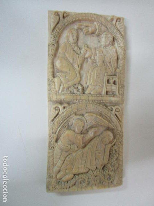 Arte: Icono, Plaqueta Románica - Talla en Hueso - San Millán - Arca Relicario, San Millán (La Rioja) - Foto 4 - 196285186