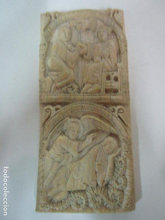 Arte: Icono, Plaqueta Románica - Talla en Hueso - San Millán - Arca Relicario, San Millán (La Rioja) - Foto 9 - 196285186