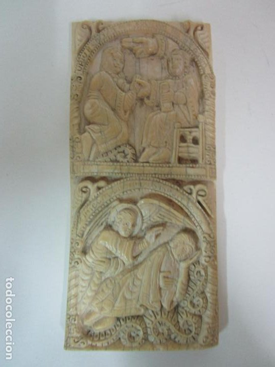 Arte: Icono, Plaqueta Románica - Talla en Hueso - San Millán - Arca Relicario, San Millán (La Rioja) - Foto 10 - 196285186