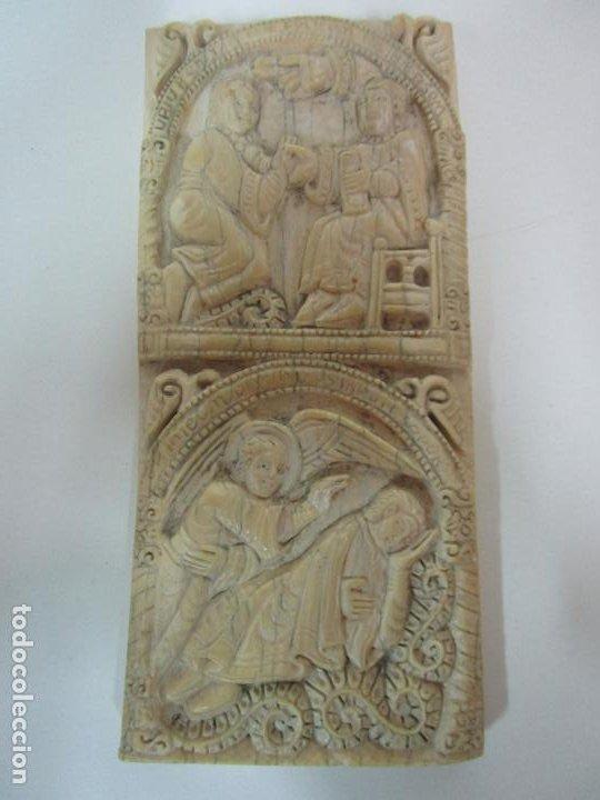 ICONO, PLAQUETA ROMÁNICA - TALLA EN HUESO - SAN MILLÁN - ARCA RELICARIO, SAN MILLÁN (LA RIOJA) (Arte - Arte Religioso - Iconos)