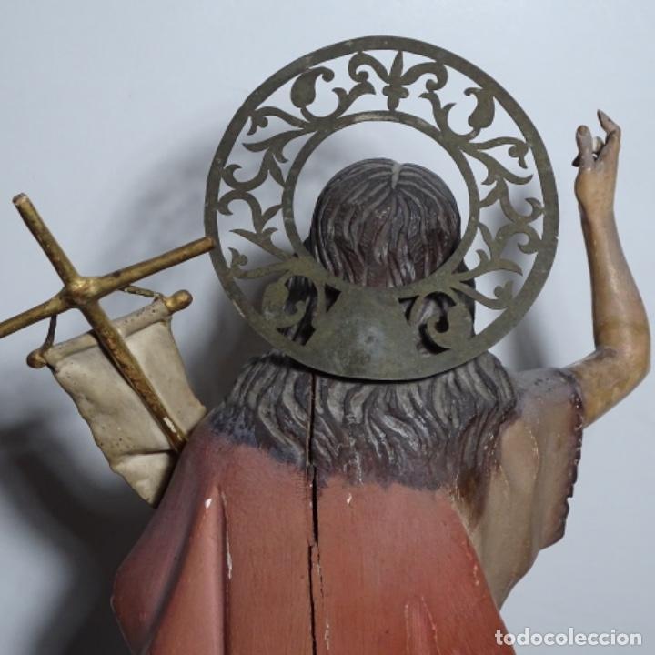 Arte: Escultura de, siglo xix de madera de Tomàs picas.con policromia.santo con oveja. - Foto 22 - 196318200