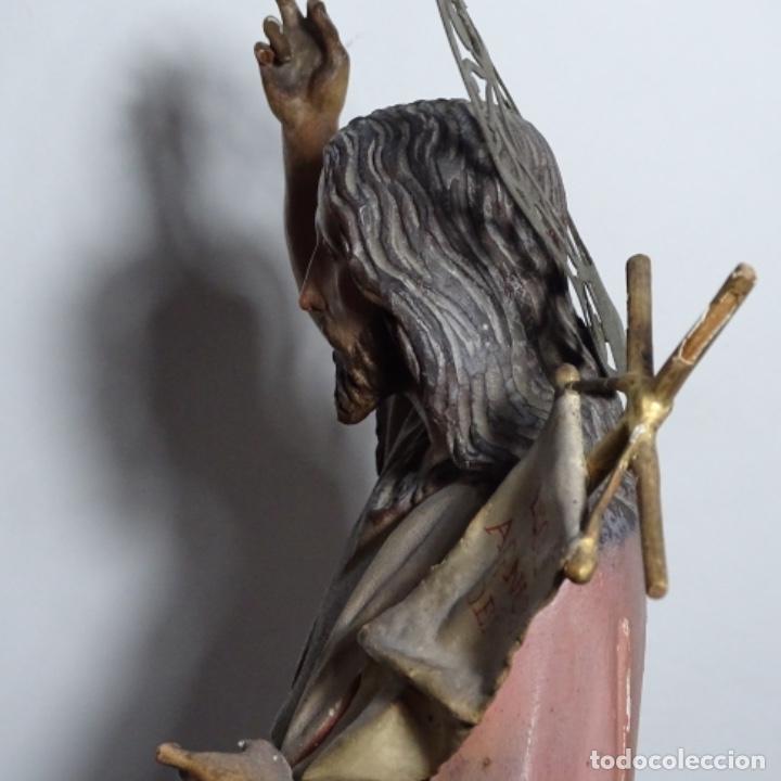 Arte: Escultura de, siglo xix de madera de Tomàs picas.con policromia.santo con oveja. - Foto 27 - 196318200