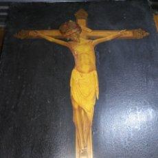 Arte: ANTIGUO CUADRO SANTO CRISTO DE BALAGUER LEER DESCRIPCIÓN 90 X 72 CM LITOGRAFÍA ANTIGUA EXTRAÑO RARO. Lote 196325588