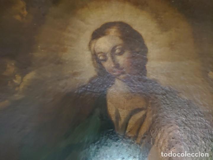 Arte: ÓLEO SOBRE LIENZO INMACULADA CONCEPCIÓN SIGLO XVII - Foto 30 - 188788421