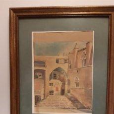 Arte: PLAZA DEL REY BARRIO GOTICO BARCELONA AÑOS 1960. Lote 196367367