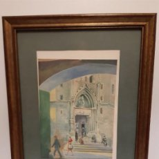 Arte: PLAZA DEL REY, BARRIO GOTICO BARCELONA AÑOS 1960. Lote 196367821