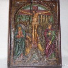 Arte: RETABLO BAJORELIEVE FINALES SIGLO XVIII, PP. SGLO XIX. Lote 196374901