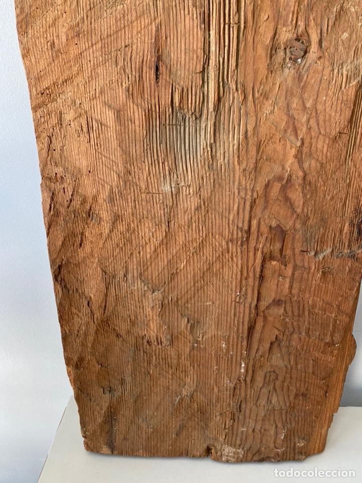 Arte: Retablo madera policromada siglo XVII , relieve Santa Lucía - Foto 19 - 196621257