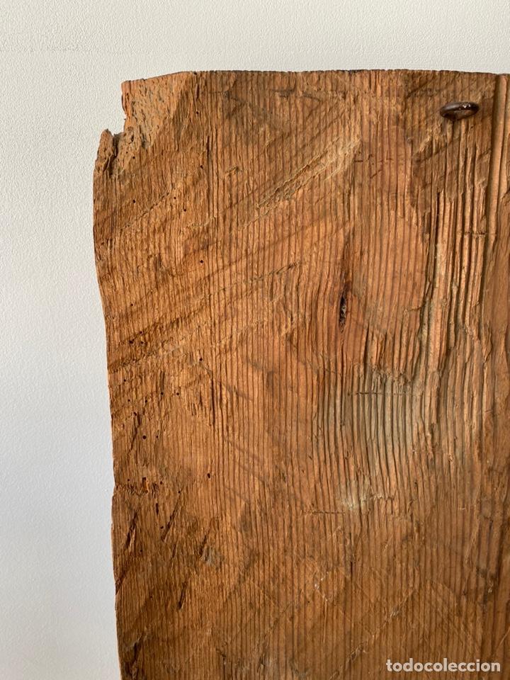 Arte: Retablo madera policromada siglo XVII , relieve Santa Lucía - Foto 20 - 196621257