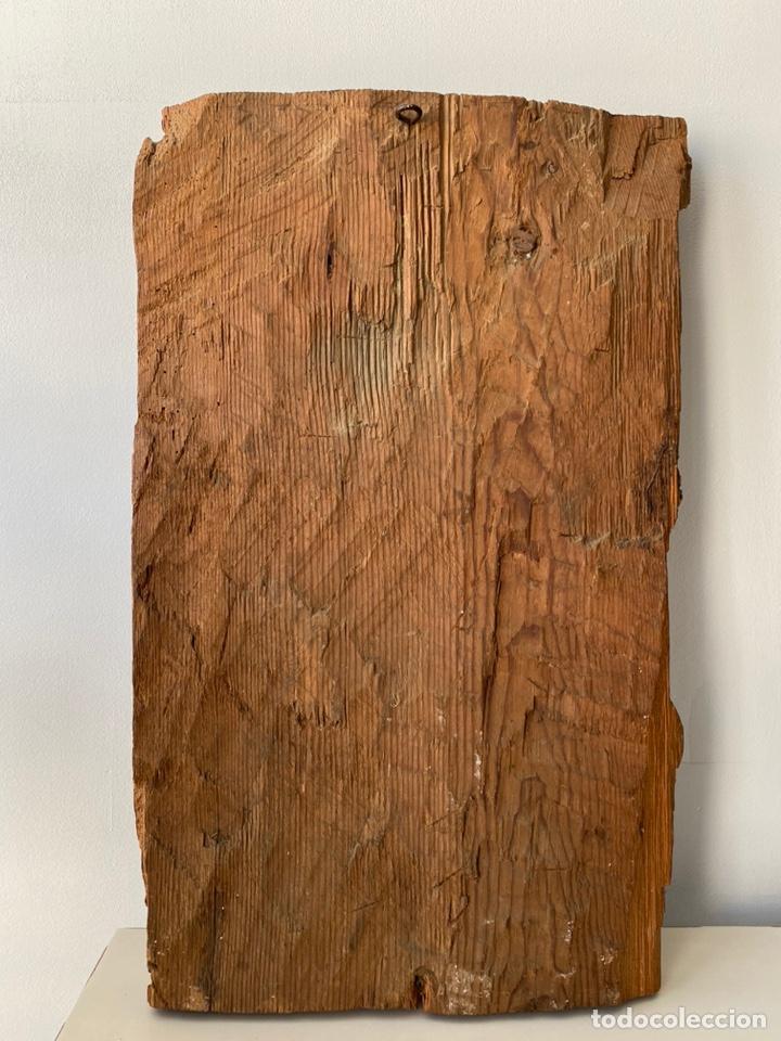 Arte: Retablo madera policromada siglo XVII , relieve Santa Lucía - Foto 21 - 196621257