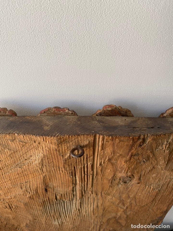 Arte: Retablo madera policromada siglo XVII , relieve Santa Lucía - Foto 22 - 196621257