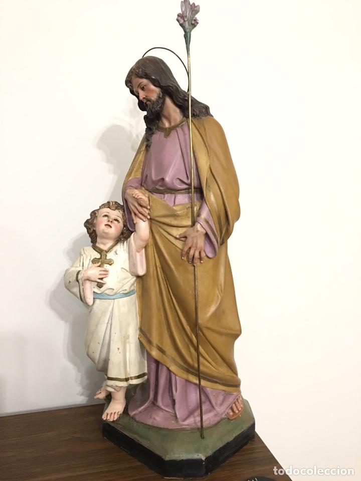 Arte: SAN JOSÉ CON EL NIÑO JESÚS - ANTIGUA FIGURA DE OLOT - EL ARTE RELIGIOSO - Foto 8 - 194249015