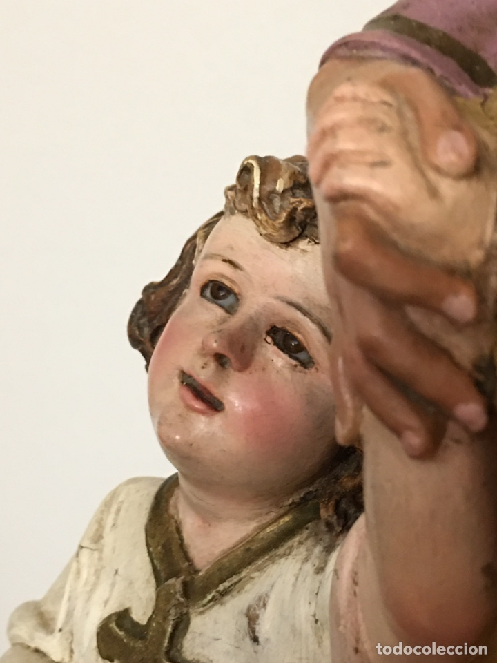 Arte: SAN JOSÉ CON EL NIÑO JESÚS - ANTIGUA FIGURA DE OLOT - EL ARTE RELIGIOSO - Foto 11 - 194249015