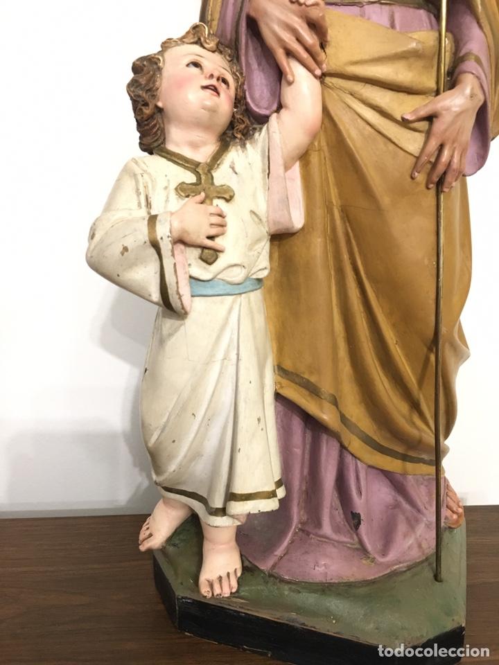 Arte: SAN JOSÉ CON EL NIÑO JESÚS - ANTIGUA FIGURA DE OLOT - EL ARTE RELIGIOSO - Foto 13 - 194249015