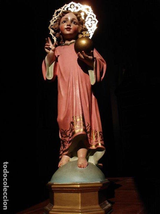 Arte: NIÑO JESUS DIVINO REDENTOR PASTA DE MADERA - Foto 8 - 196760063