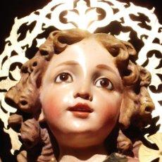 Arte: NIÑO JESUS DIVINO REDENTOR PASTA DE MADERA. Lote 196760063