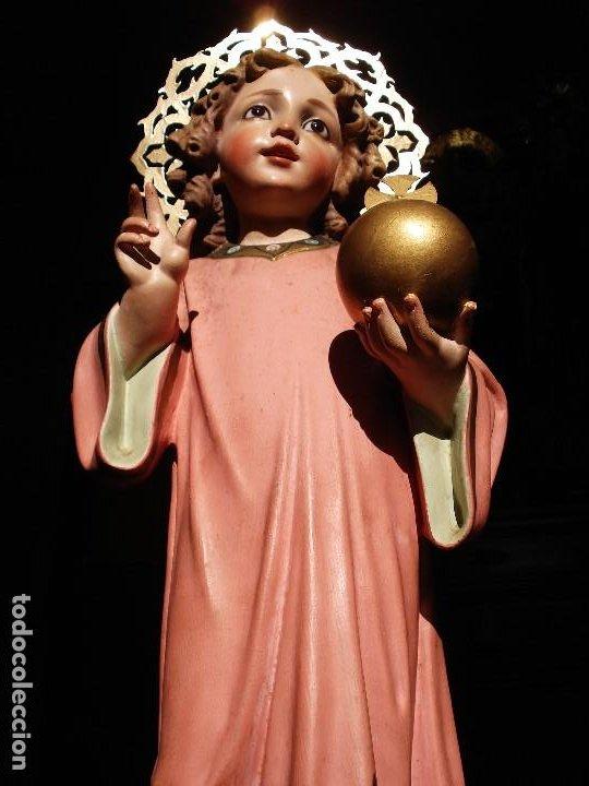 Arte: NIÑO JESUS DIVINO REDENTOR PASTA DE MADERA - Foto 13 - 196760063