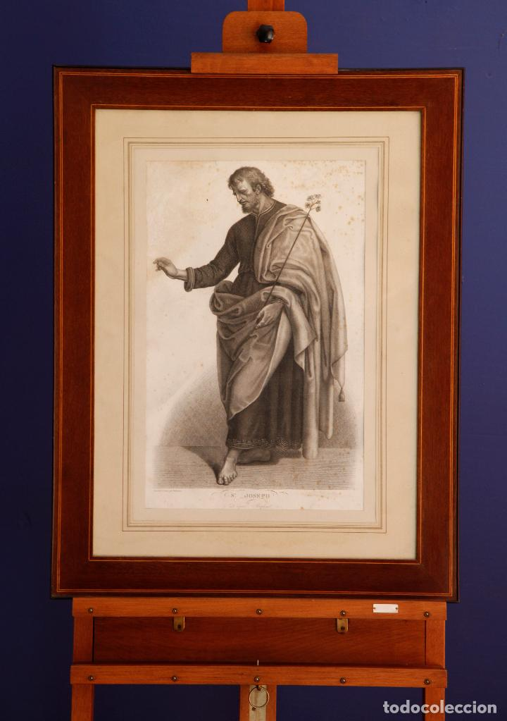 ST JOSEPH -D' APRES RAPHAEL- RADOREAU DESSINÉE ET GRAVÉE / GRABADO (Arte - Arte Religioso - Grabados)