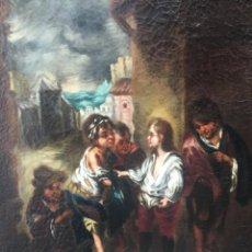 Arte: MURILLO, BARTOLOME ESTEBAN (SEVILLA 1617-1682), SEGUIDOR DE: SANTO TOMAS DE VILLANUEVA NIÑO. Lote 149365445