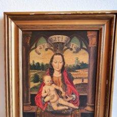Arte: ANTIGUO OLEO RELIGIOSO SOBRE TABLA. Lote 197064127