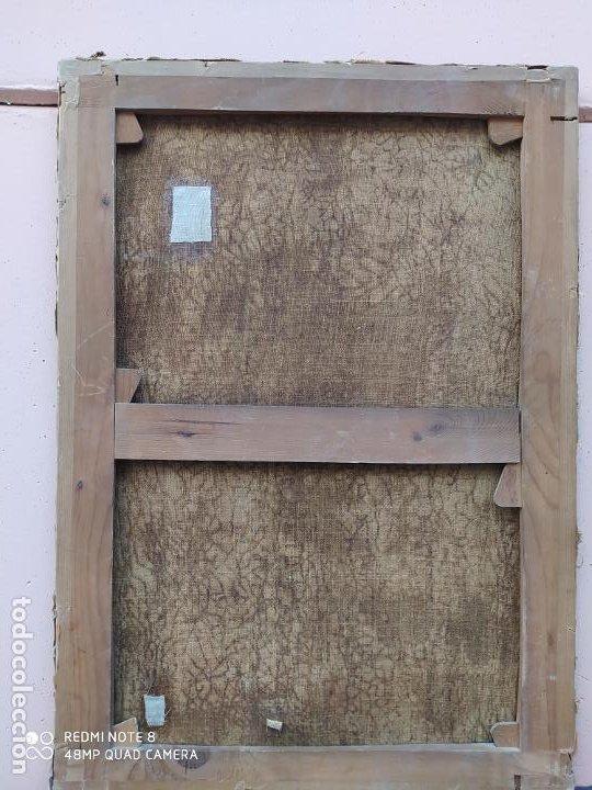 Arte: Óleo antiguo con la imagen de Cristo crucificado, del siglo XVllI, se encuentra en muy buen estado y - Foto 2 - 197095355