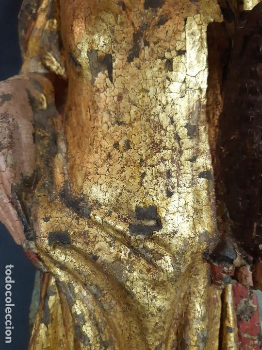 Arte: Santa Bárbara. Talla de madera policromada. Gótico. - Foto 5 - 197189278