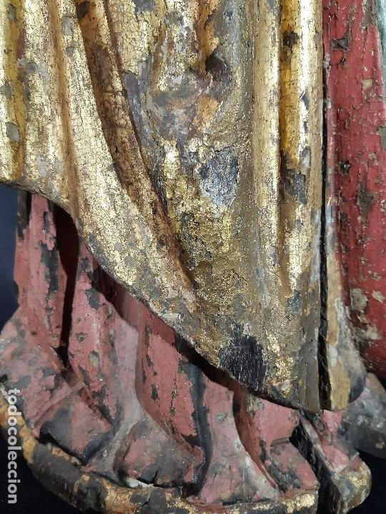 Arte: Santa Bárbara. Talla de madera policromada. Gótico. - Foto 7 - 197189278