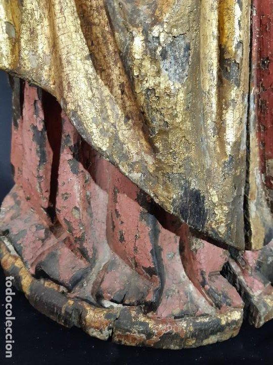 Arte: Santa Bárbara. Talla de madera policromada. Gótico. - Foto 8 - 197189278