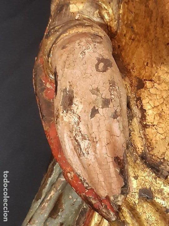 Arte: Santa Bárbara. Talla de madera policromada. Gótico. - Foto 14 - 197189278