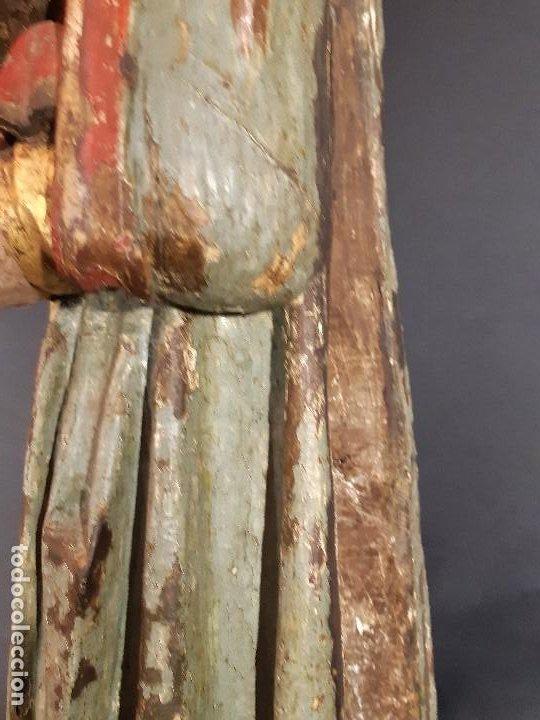 Arte: Santa Bárbara. Talla de madera policromada. Gótico. - Foto 23 - 197189278