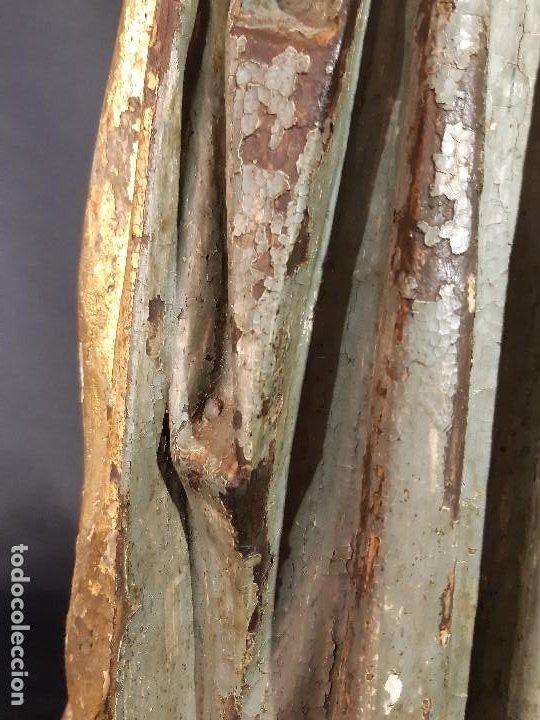 Arte: Santa Bárbara. Talla de madera policromada. Gótico. - Foto 27 - 197189278