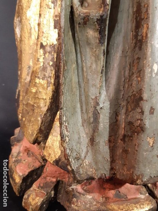 Arte: Santa Bárbara. Talla de madera policromada. Gótico. - Foto 28 - 197189278