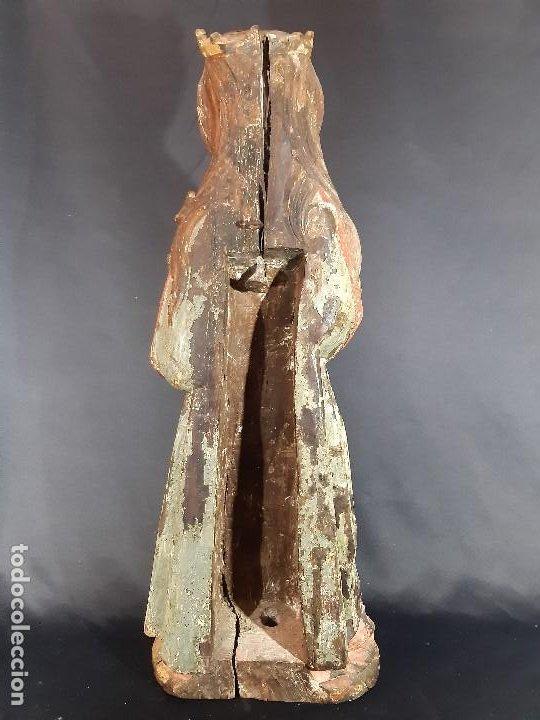 Arte: Santa Bárbara. Talla de madera policromada. Gótico. - Foto 29 - 197189278